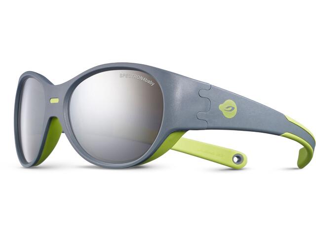 Julbo Puzzle Spectron 4 Sunglasses Kids 3-5Y Gray/Green-Gray Flash Silver